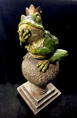 """Fairy Tale Frog Prince Statue Approx 13"""" Tall"""