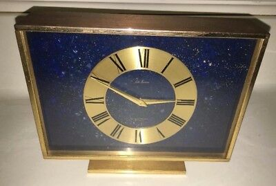 Outer Space Galaxy Solar System  Face Seth Thomas Metal Table Clock Mcm Vtg