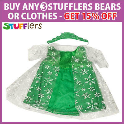 Green Princess Clothing Outfit by Stufflers – Will fit on a Build a bear