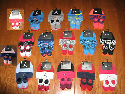 Nike Air Jordan Baby Infant Newborn Booties Socks and Hat Set 0-6 Months NWT