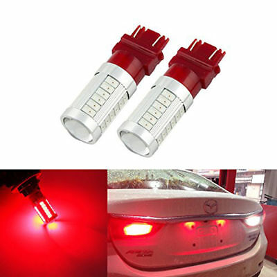 2pc T25 Red BAY15D 3157 Car Tail Brake Light 5630 33 SMD Auto LED from Canada