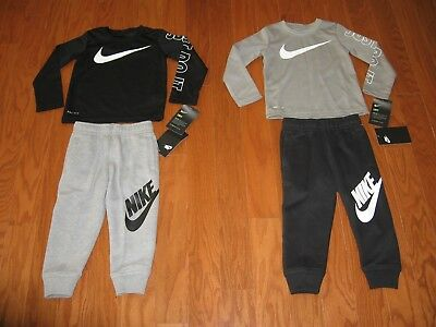 Nike Boys' 2-Pc. Long sleeve shirt & Pants Outfit Set Size 2T/3T/4T NWT $62