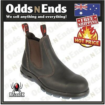 af36aaa3814 USBOK REDBACK WORK Elastic Sided Boots. STEEL Cap Safety Bobcat AUSSIE MADE  NEW