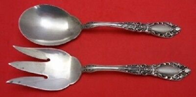 Prince Eugene By Alvin Sterling Silver Salad Serving Set AS 2pc 8 7/8""