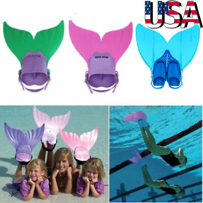 9bdb359846 Kids Teens Swimmable Mermaid tails Monofin Mono Fin Flippers Swimming  Costumes