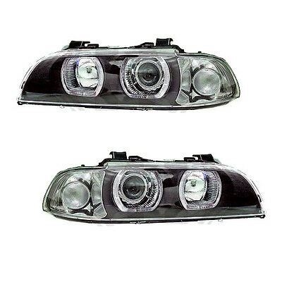 BMW 5-er E39 BJ95-00 Set Angel Eyes Xenon Scheinwerfer U-LED D2S,H7,PY21W + LWR