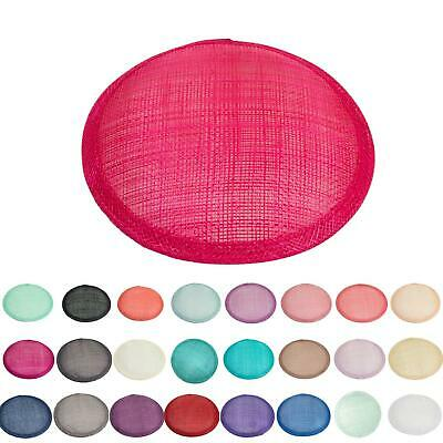 Sinamay material 14cm circle fascinator base for millinery wedding hat HB008