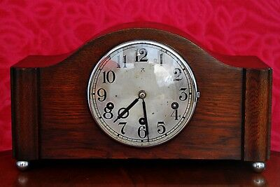 Vintage Art Deco German 'Wurttemberg HAC' Mantel Clock with Westminster Chimes
