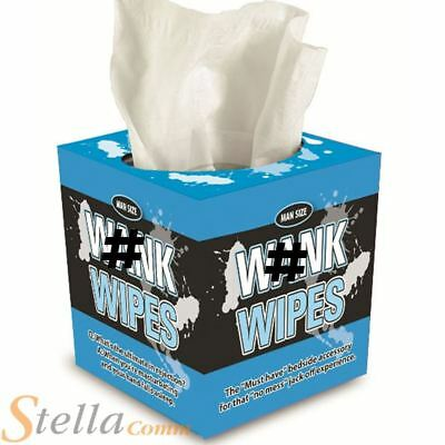 Adult Novelty W@nk Wipes Box Of Tissues Joke Stag Hen Party Novelty Gift