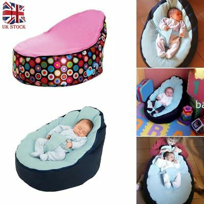 Baby Bean Bag Adjustable Harness Kids Toddler Chair Bouncer Beanbag UK