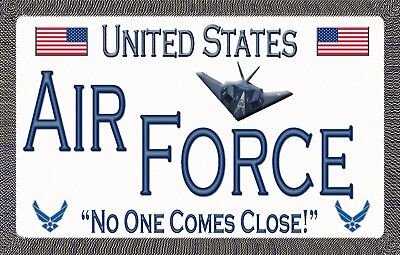 Air Force - No One Comes Close - Magnetic Car Sign - 6 inches X 3.75 inches