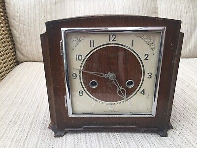 Smiths Enfield Striking Clock for spares or repair