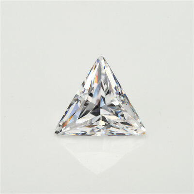 50pcs 3x3~15x15mm Triangle Shape White AAAAA loose cz stone cubic zirconia Stone