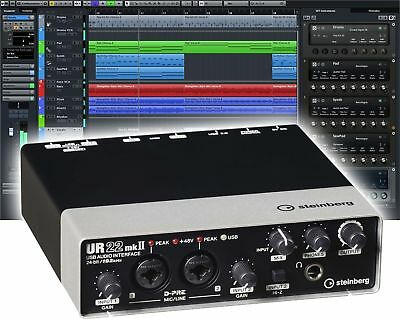 Steinberg UR22 USB-Audiointerface externe Soundkarte + Cubase AI Software - NEU