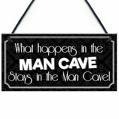 Vintage Man Cave Plaque Sign Novelty Gift FUNNY QUOTE - Games / Boys Room