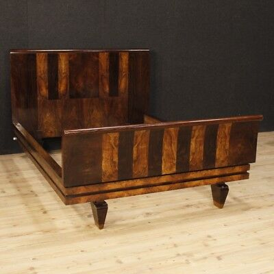 Double bed italian wooden antique style Art Déco furniture camera 900