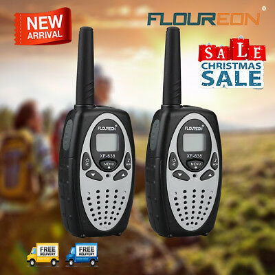 2X 8CH Walkie Talkie Interphone PMR Two-Way Radio Kids Intercom 3KM Long Range