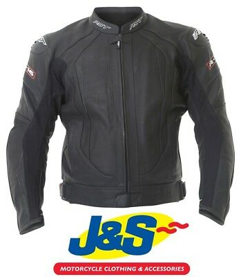 RST R-16 1068 Leather Motorcycle Jacket Black R16 Sports Touring Track Sale J&S