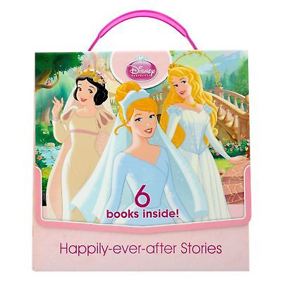 Disney Princess Happily-Ever-After Stories Weddings Pink Carry Case 6 Books