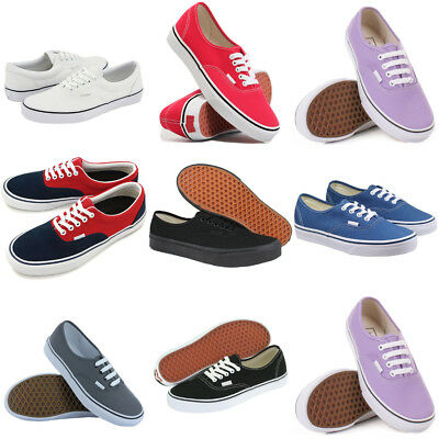 Mens Womens Classic Canvas Casual Flat Low Shoes Trainers Sneakers Size Lot V1