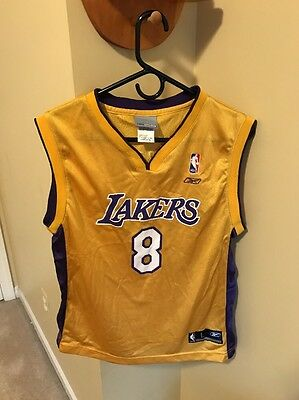 93a7ed9e2 Los Angeles Lakers Reebok Kobe Bryant  8 Jersey Gold Youth L 14-16 Vintage
