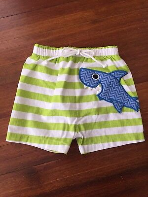 Mud Pie Gray Shark Fin Swim Trunks /& Sun Hat 102211-XS 1502298-IN New 2018 6-9 m