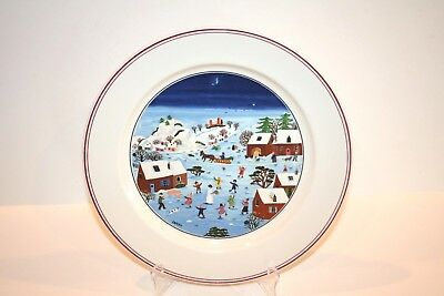 """Villeroy & Boch NAIF CHRISTMAS Dinner Plate 10-1/2"""" Luxembourg  BRAND NEW"""