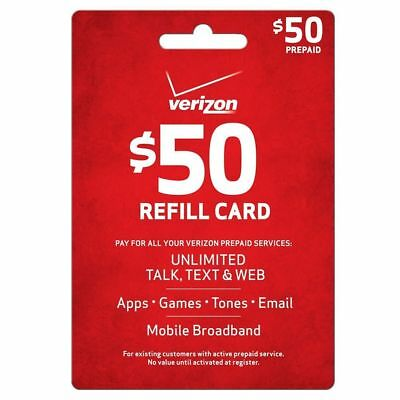 Reputable Verizon wireless $50 Refill Same Day Refill applied DIRECTLY to PHONE