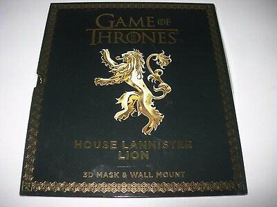 GAME OF THRONES House Lannister Lion 3D Mask + Wall Mount CHEAPEST LISTED - HBO