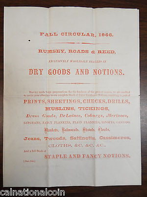 Portsmouth, OH-1866-Rumsey, Roads & Reed Dry Goods Fall Circular