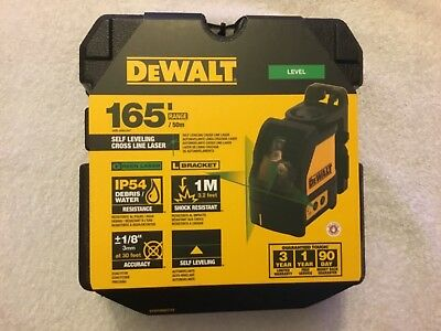 New Dewalt DW088CG Self Levelling Green Cross Line Laser NIB New n Carrying Case
