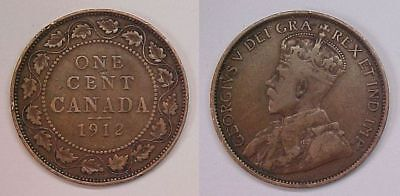 1912 Canadian Large Cent  Very Good - Fine VG - F
