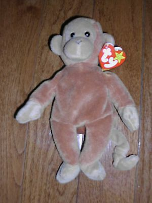 TY BEANIE BABY BONGO MONKEY CHIMP 1995 NEW w/TAG NWT CUTE! SOFT! STYLE 4067