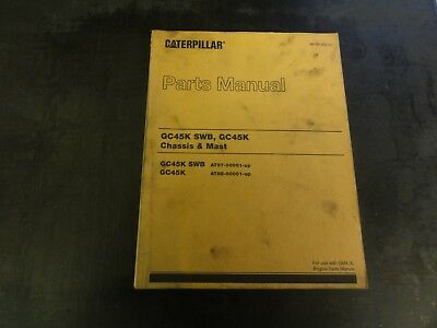 caterpillar gp20k gp25k forklift chassis mast parts manual book cat rh picclick com Caterpillar C5000 LP Cat 5000 Forklift Specs