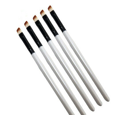 5Pcs Professional Elite Angled Eyebrow Brush Eye Liner Brow Makeup Tools Gift