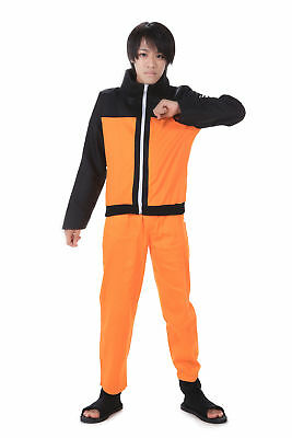 Naruto Shippuden Cosplay Costume Hidden Leaf Shinobi Uzumaki Naruto 2nd Version