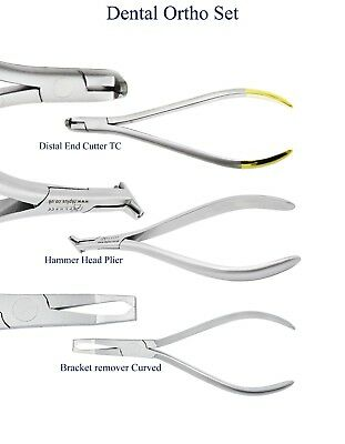 Dental Ortho Set Hammer Head Distal End Cutter Bracket remover curved Pliers CE