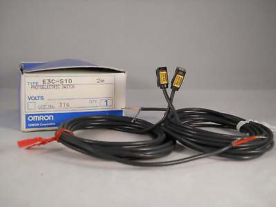 Omron Photoelectric Sensor Through Beam Small Type LED 100mm Range E3C-S10 NEW