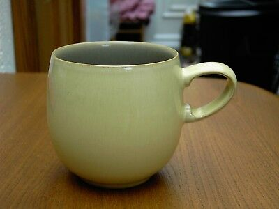 Denby Fire Yellow / Sage Small Curved Mug In Very Good Clean Used Condition