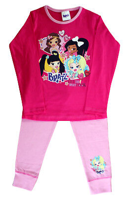 Bratz Officially Certified Full Sleeves Pink Cotton Pyjamas Shirt For Girl's