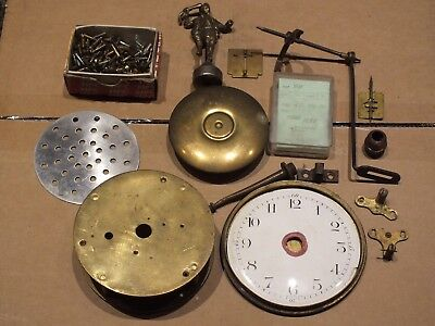 Vintage Grandfather Clock Parts 🔑 Plus Brass Finial 🔑 Job Lot - Ref R