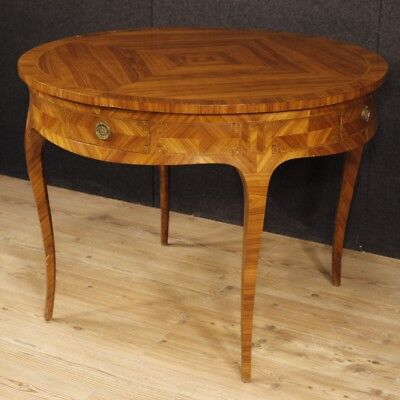 Dining table inlaid French furniture wood antique style Louis XV 900