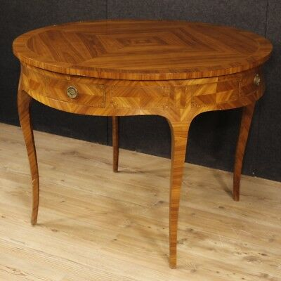 Dining table inlaid furniture french wooden antique style louis XV 900
