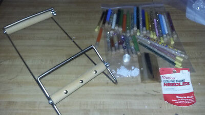 Bead Loom With 36 Glass Tubes Of Beads Needles Plus Powwow Vendors Crafters