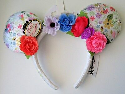 Epcot Flower and Garden Festival 2018 Minnie Mouse Ear Hat Headband Ears