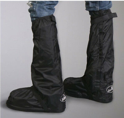 Motorcycle Boot Covers Waterproof With Rubber Soles and Carry Bag