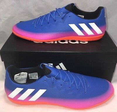 19969631bfe Adidas Mens Size 12 Messi 16.3 Indoor Turf Soccer Shoes Blue White Orange  New