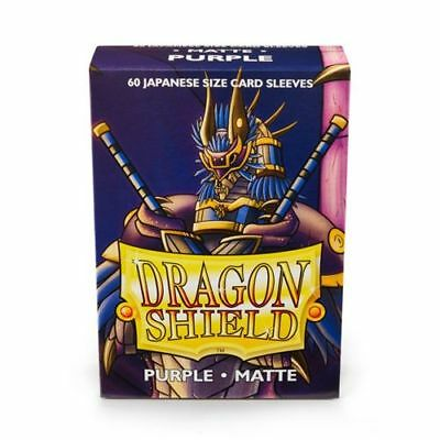 YUGIOH Dragon Shield Mini 60 JAPANESE Sleeves MATTE - PURPLE - Small Size Yugi