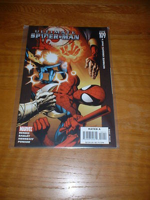 Ultimate Spider-Man 109. Nm Cond. July 2007. Bendis / Bagley / Hennessy