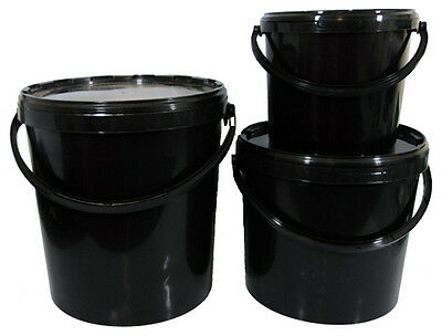 Heavy Duty Watertight 20 Litre Bucket and Lids x 5  for Feeds /Storage
